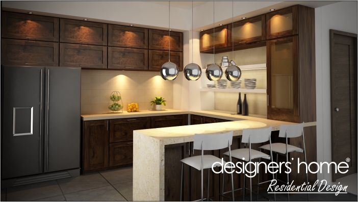 semi d interior design kitchen bar counter malaysia interior
